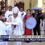 Trujillo: Rinden homenaje a Arzobispo que cumple 28 años de ministerio