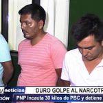 Trujillo: PNP incauta 30 kilos de PBC dentro de un auto y detienen a 3 personas