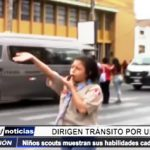 Chiclayo: Boy Scouts muestran sus habilidades dirigiendo el tránsito