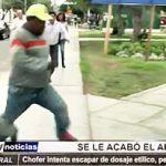 Trujillo: Chofer intenta escapar de dosaje etílico del Hospital de la Sanidad de PNP