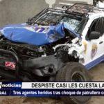 Trujillo: Patrullero de IRAM se despista y choca contra un árbol en avenida Víctor Larco