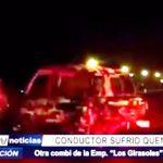 La Esperanza: Extorsionadores incendian otra combi y chofer queda herido