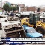 SEGAT: Gasta 31 mil soles por alquiler de maquinarias