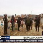 El Porvenir: Desalojo de terreno ocasiona una batalla campal con la policía