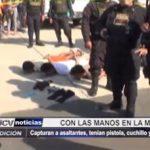Iquitos: Con las manos en la masa capturan a asaltantes que portaban pistolas