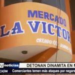 La Esperanza: Presuntos delincuentes detonan cartucho de dinamita en mercado