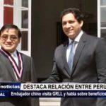 Trujillo: Embajador chino visita GRLL y destaca la relación entre Perú y China