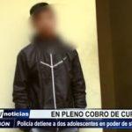 La Esperanza: PNP capturan a 2 adolescentes en pleno cobro de cupo de S/ 10 mil