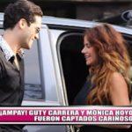¡Ampay! Guty Carrera y Mónica Hoyos fueron captados cariñosos