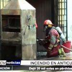 Trujillo: Incendio en anticuchería dejó 20 mil soles en pérdidas materiales