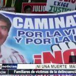 """Piura: Población realiza marcha """"Ni Una Muerte Más"""""""