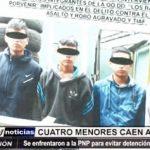 Trujillo: 4 menores se enfrentaron a balazos con agentes del Escuadrón de Emergencia