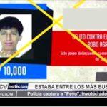 """Piura: Policía captura a """"Peyo"""", uno de los delincuentes más buscados del país"""