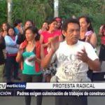 Iquitos: Padres exigen culminación de trabajos de construcción en colegio