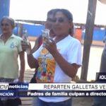 Iquitos: Reparten galletas vencidas en colegio