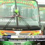 Trujillo: Renuevan 80 microbuses para el servicio de transporte urbano