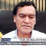 Florencia de Mora: Alcalde se pronuncia tras protesta de docentes