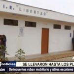 Alto Trujillo: delincuentes roban mobiliario y útiles escolares de centro educativo