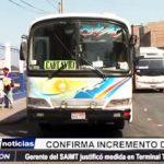 Trujillo: SAIMT confirma incremento de tarifa en terminal terrestre Santa Cruz