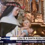 Trujillo: Policía Nacional rindió homenaje a su santa patrona Santa Rosa de Lima