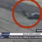 Chimbote: Policía resultó herido tras colisión de su motocicleta con auto