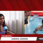 Natación: Andrea Cedrón cuenta sus momentos en Río 2016