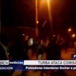 Piura: Turba ataca comisaría en intento por linchar a presunto asesino