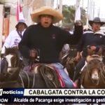 "Chepén: 12 jinetes inician ""Cabalgata contra la corrupción"""