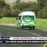 Cerro Blanco: Pobladores exigen rompemuelles y señalización en carretera a la sierra