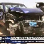 El Milagro: Fiscal herida en accidente de tránsito en Panamericana Norte