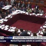 Lima: Aprueban proyecto de ley que castiga a tránsfugas