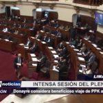 Lima: Intensa sesión del pleno del Congreso