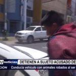 Laredo: Detienen a sujeto acusado de abigeato