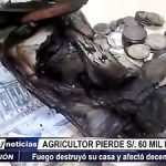 Huamachuco: Agricultor pierde 60 mi soles en incendio y solo recuperó S/ 7 mil