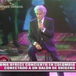 """""""El Puma"""" ofrece concierto en Colombia conectado a un balón de oxígeno"""