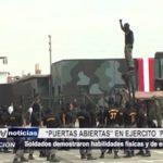 Trujillo: Soldados demostraron habilidades físicas y de entrenamiento