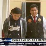 Trujillo: Estafador que pedía 3 mil soles fue detenido por agentes de DEPINCRI Norte