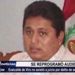 Virú: Reprogramaron audiencia a exalcalde por caso delito de actos contra el pudor