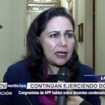 Lima: Congresistas de APP hablan sobre docentes condenados por terrorismo