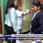 Lima: Trabajadores de hospital San Juan de Lurigancho exigen mejoras
