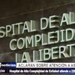 Trujillo: Dirección de Hospital de Alta Complejidad aclara que atiende a 220 pacientes diarios