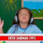 "Divertida reacción de niños al escuchar ""Metallica"""