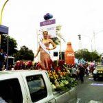Ana María Villalobos Miss La Libertad 2016 engalanando con su presencia el corso trujillano
