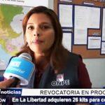 ONPE: Se han adquirido 26 kits para promover revocatoria de autoridades liberteñas