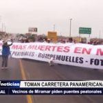 Salaverry: Vecinos de Miramar toman la carretera Panamericana Norte