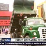 Trujillo: Alcalde de Magdalena de Cao exige liberación de 70 mil soles del banco