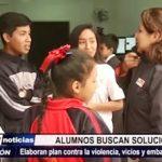 Salaverry: Alumnos elaboran plan contra la violencia, vicios y embarazos en colegios