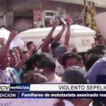 Piura: Familiares de mototaxista asesinado realizan destrozos durante sepelio