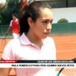 Tenis: Paula Romero se aleja de los Juegos Escolares para asumir nuevos retos