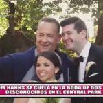 Tom Hanks se cuela en boda de dos desconocidos en el Central Park